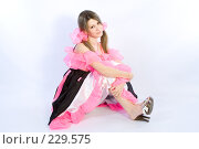 Купить «Девушка с розовыми бантами», фото № 229575, снято 4 января 2008 г. (c) Евгений Батраков / Фотобанк Лори