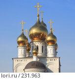 Купить «Золотые купола», фото № 231963, снято 16 августа 2018 г. (c) Иванюшин Виталий / Фотобанк Лори