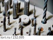 Купить «Сверла и фрезы маленькие», фото № 232095, снято 25 декабря 2007 г. (c) Виноградов Илья Владимирович / Фотобанк Лори