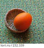 Купить «Пасхальное крашеное яйцо в плетеной корзинке», фото № 232339, снято 25 января 2007 г. (c) only / Фотобанк Лори