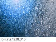 Купить «Зимние узоры на окне», фото № 238315, снято 31 декабря 2007 г. (c) Goruppa / Фотобанк Лори