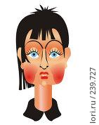 Купить «Удивленная девушка», иллюстрация № 239727 (c) Наталья Кузнецова / Фотобанк Лори