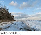Купить «Заснеженный берег», фото № 240063, снято 23 февраля 2008 г. (c) Олег Крутов / Фотобанк Лори