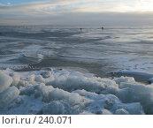 Купить «Вид на залив, покрытый льдом», фото № 240071, снято 18 ноября 2018 г. (c) Олег Крутов / Фотобанк Лори