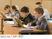 Купить «Урок в четвертом классе», фото № 241891, снято 3 апреля 2008 г. (c) Федор Королевский / Фотобанк Лори