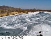 Купить «Весенний лед на Уссури», фото № 242763, снято 20 марта 2008 г. (c) Олег Рубик / Фотобанк Лори