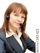 Купить «Девушка с микрофоном», фото № 243423, снято 3 марта 2008 г. (c) Tatiana Lykova / Фотобанк Лори