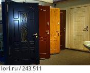 Купить «Железные входные двери на строительной выставке», фото № 243511, снято 16 июня 2005 г. (c) Harry / Фотобанк Лори