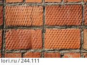 Купить «Фрагмент кирпичной стены. Фон.», фото № 244111, снято 6 апреля 2008 г. (c) Игорь Веснинов / Фотобанк Лори
