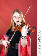 Купить «Готический скрипач», фото № 245135, снято 29 марта 2008 г. (c) Сергей Лаврентьев / Фотобанк Лори