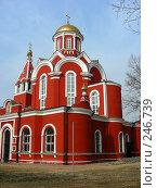 Церковь Благовещения Пресвятой Богородицы в Петровском парке в Москве (2008 год). Стоковое фото, фотограф lana1501 / Фотобанк Лори