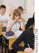 Купить «Фоторепортаж с уроков в девятом классе», фото № 247739, снято 9 апреля 2008 г. (c) Федор Королевский / Фотобанк Лори