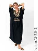 Купить «Девушка в платье из Туниса», фото № 247843, снято 8 апреля 2008 г. (c) Михаил Мандрыгин / Фотобанк Лори