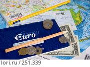 Купить «Натюрморт с картами, деньгами и чековой книжкой в Евро», фото № 251339, снято 22 сентября 2018 г. (c) Harry / Фотобанк Лори