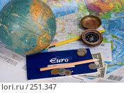 Купить «Планирование путешествий. Натюрморт с картами, глобусом, компасом и деньгами», фото № 251347, снято 22 сентября 2018 г. (c) Harry / Фотобанк Лори