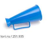 Купить «Голубой мегафон», фото № 251935, снято 12 апреля 2008 г. (c) Угоренков Александр / Фотобанк Лори