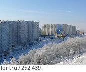 Купить «Улица Октябрьская г. Снежногорска зимой», фото № 252439, снято 1 марта 2008 г. (c) Иван Мацкевич / Фотобанк Лори