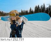 Купить «Девушка со сноубордом», фото № 252731, снято 30 марта 2008 г. (c) Виктор Застольский / Фотобанк Лори