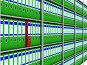 Ряд бухгалтерских папок на стеллаже, иллюстрация № 253787 (c) Ильин Сергей / Фотобанк Лори