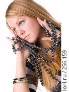 Купить «Портрет блондинки с бусами», фото № 256159, снято 2 марта 2008 г. (c) Андрей Андреев / Фотобанк Лори