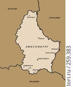 Купить «Географическая карта люксембурга», иллюстрация № 259383 (c) Примак Полина / Фотобанк Лори