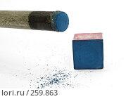 Купить «Бильярдный кий и мел», фото № 259863, снято 23 апреля 2008 г. (c) Чернов Станислав / Фотобанк Лори