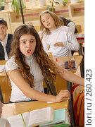 Купить «Обмен комплиментами. На уроке в четвертом классе», фото № 260423, снято 23 апреля 2008 г. (c) Федор Королевский / Фотобанк Лори