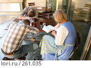 Купить «Утро в кафе», фото № 261035, снято 20 сентября 2018 г. (c) Losevsky Pavel / Фотобанк Лори