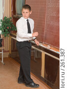 Купить «Ученик у доски. На уроке в четвертом классе», фото № 261387, снято 23 апреля 2008 г. (c) Федор Королевский / Фотобанк Лори
