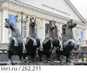 Купить «Четыре лихих скакуна», фото № 262211, снято 19 апреля 2008 г. (c) Мария Коробкина / Фотобанк Лори