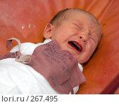 Купить «Новорожденный ребенок плачет», фото № 267495, снято 25 сентября 2006 г. (c) Виктор Филиппович Погонцев / Фотобанк Лори