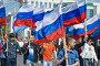 Российские флаги в колонне демонстрантов.Первомай в Новороссийске, фото № 269015, снято 1 мая 2008 г. (c) Федор Королевский / Фотобанк Лори