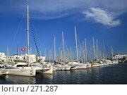 Купить «Пристань с яхтами в городке Порт-Эль-Кантауи. Тунис», фото № 271287, снято 9 сентября 2007 г. (c) Вероника Галкина / Фотобанк Лори