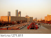 Купить «Парк победы. Закат», фото № 271811, снято 30 марта 2008 г. (c) Недорез Александр / Фотобанк Лори