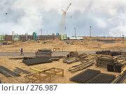 Купить «Строительство дамбы в Санкт-Петербурге», фото № 276987, снято 14 апреля 2008 г. (c) Vladimir Kolobov / Фотобанк Лори