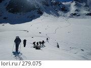 Купить «Альпинисты в горах. Горный Алтай», фото № 279075, снято 12 июля 2006 г. (c) Селигеев Андрей Иванович / Фотобанк Лори