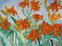 Оранжевые лилии, акварель, фото № 281991, снято 13 апреля 2008 г. (c) ИВА Афонская / Фотобанк Лори