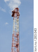 Купить «Радиотрансляционная вышка», фото № 283043, снято 12 мая 2008 г. (c) Эдуард Межерицкий / Фотобанк Лори