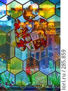 Купить «Старинный витраж», эксклюзивное фото № 285859, снято 16 ноября 2018 г. (c) Николай Винокуров / Фотобанк Лори