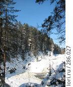 Купить «Кивач зимой», фото № 286027, снято 25 февраля 2007 г. (c) Безрукова Ирина / Фотобанк Лори