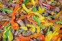 Фон из разноцветной паприки с сочными кусочками поджаренной говядины, фото № 287143, снято 15 мая 2008 г. (c) Алексей Судариков / Фотобанк Лори