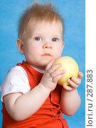 Купить «Мальчик держит яблоко», фото № 287883, снято 29 февраля 2008 г. (c) Вадим Пономаренко / Фотобанк Лори