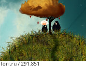 Купить «Дождь красных яблок», иллюстрация № 291851 (c) Андреева Екатерина / Фотобанк Лори