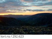 Купить «Закат в горах, Хибины, Кольский полуостров», фото № 292623, снято 24 августа 2006 г. (c) Александр Максимов / Фотобанк Лори