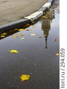 Купить «Осенняя лужа», фото № 294059, снято 18 февраля 2019 г. (c) М / Фотобанк Лори