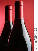 Купить «Две бутылки красного вина», фото № 294123, снято 23 апреля 2018 г. (c) Роман Сигаев / Фотобанк Лори