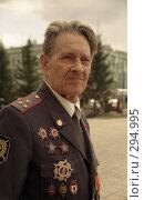 Купить «Ветеран войны, командир пулемётного взвода Александр Дороганов», эксклюзивное фото № 294995, снято 18 января 2019 г. (c) Free Wind / Фотобанк Лори
