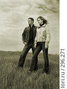 Купить «Парень и девушка в поле. Сепия», фото № 296271, снято 20 апреля 2008 г. (c) Арестов Андрей Павлович / Фотобанк Лори