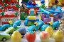 Деревянные разноцветные игрушки, эксклюзивное фото № 296715, снято 30 апреля 2017 г. (c) Juliya Shumskaya / Blue Bear Studio / Фотобанк Лори