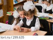 Купить «Первоклассники на уроке», фото № 299635, снято 14 мая 2008 г. (c) Федор Королевский / Фотобанк Лори